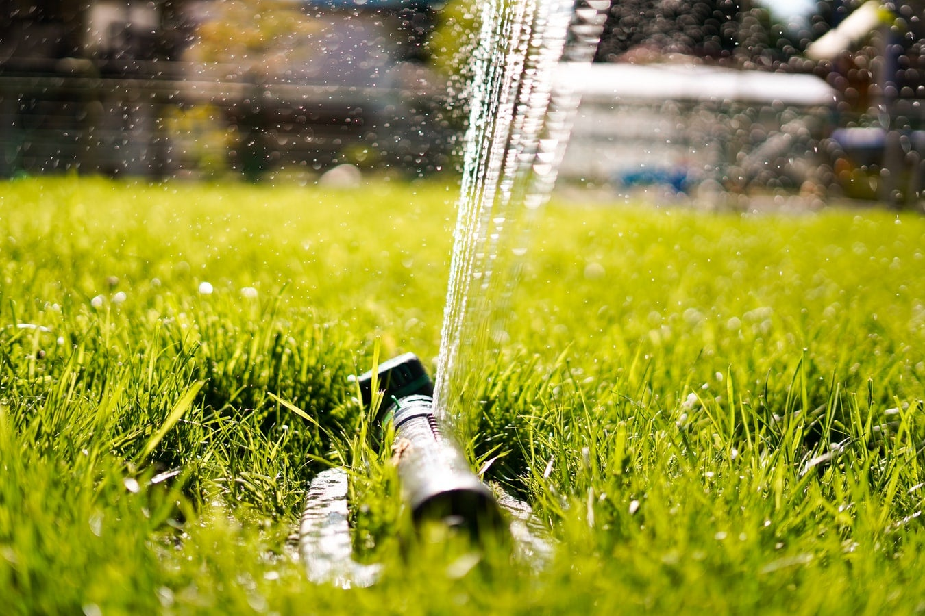 The best sprinkler system helps keep your grass healthy and green.