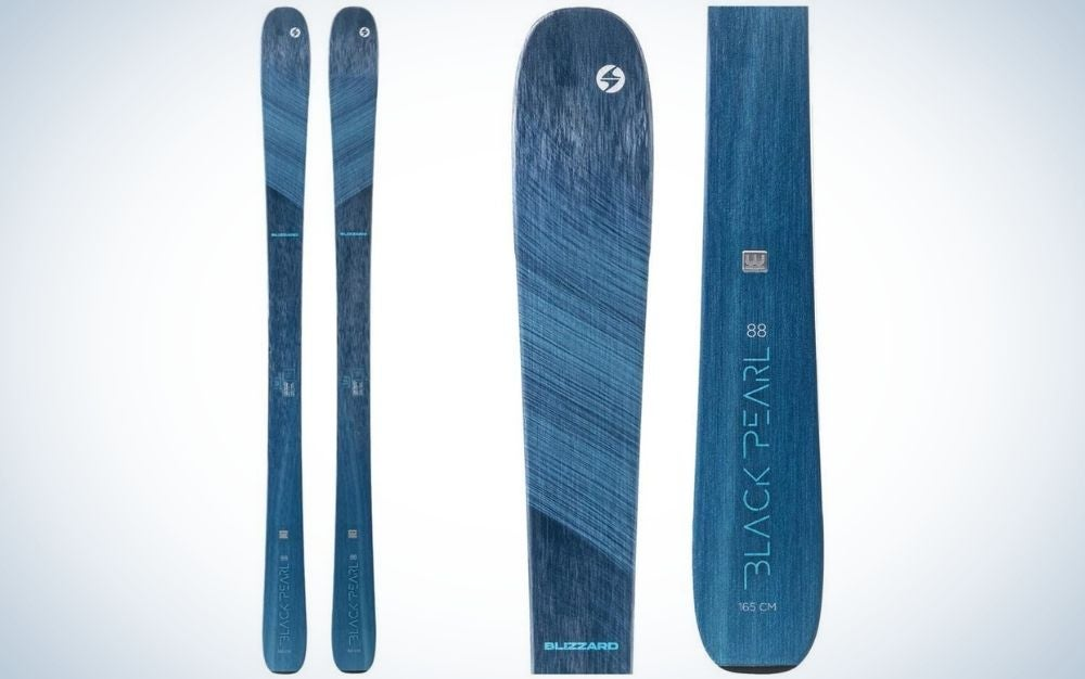 The Blizzard Women's Black Pearl 88 All-Mountain Skis are the best for women.