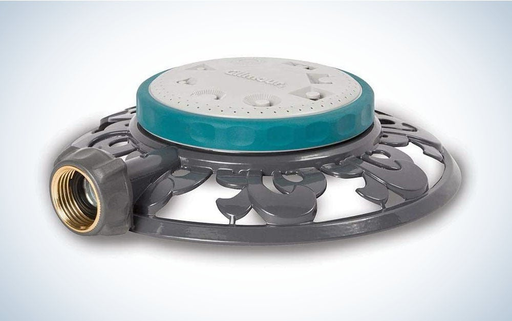 Gilmour's 8-Pattern Stationary Sprinkler is the best sprinkler system for smaller lawns.