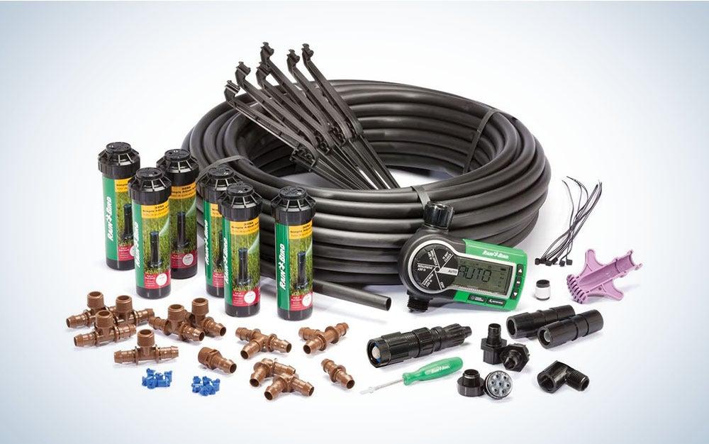 The Rain Bird In-Ground Sprinkler System is the best sprinkler system for bigger lawns.