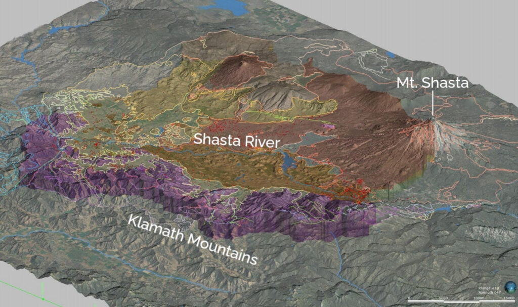 Geological model of Shasta Valley groundwater