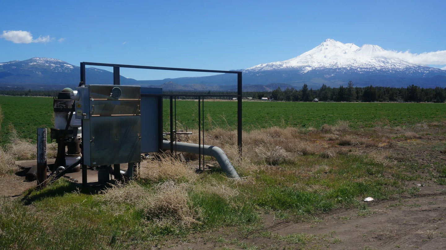 Groundwater well near a cannabis farm in the Shasta Valley