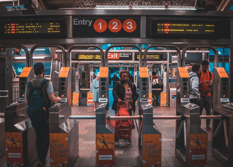 NYC subway station before flooding