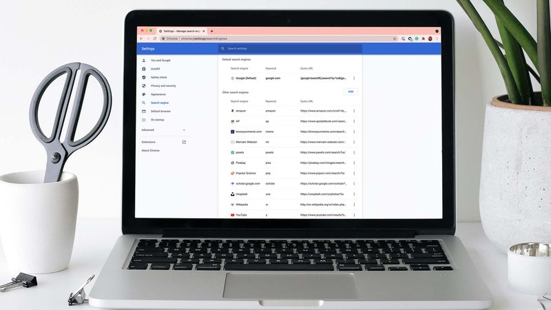 You should add more search engines to Google Chrome