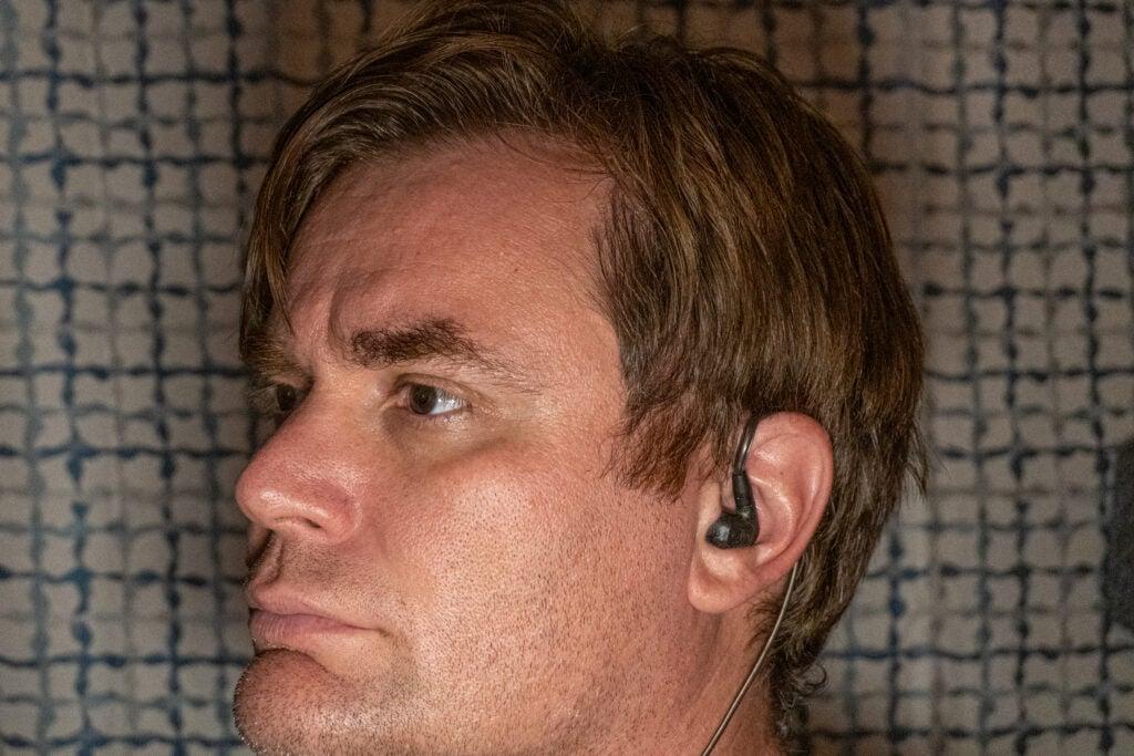 Sennheiser IE 300 in a man's ear