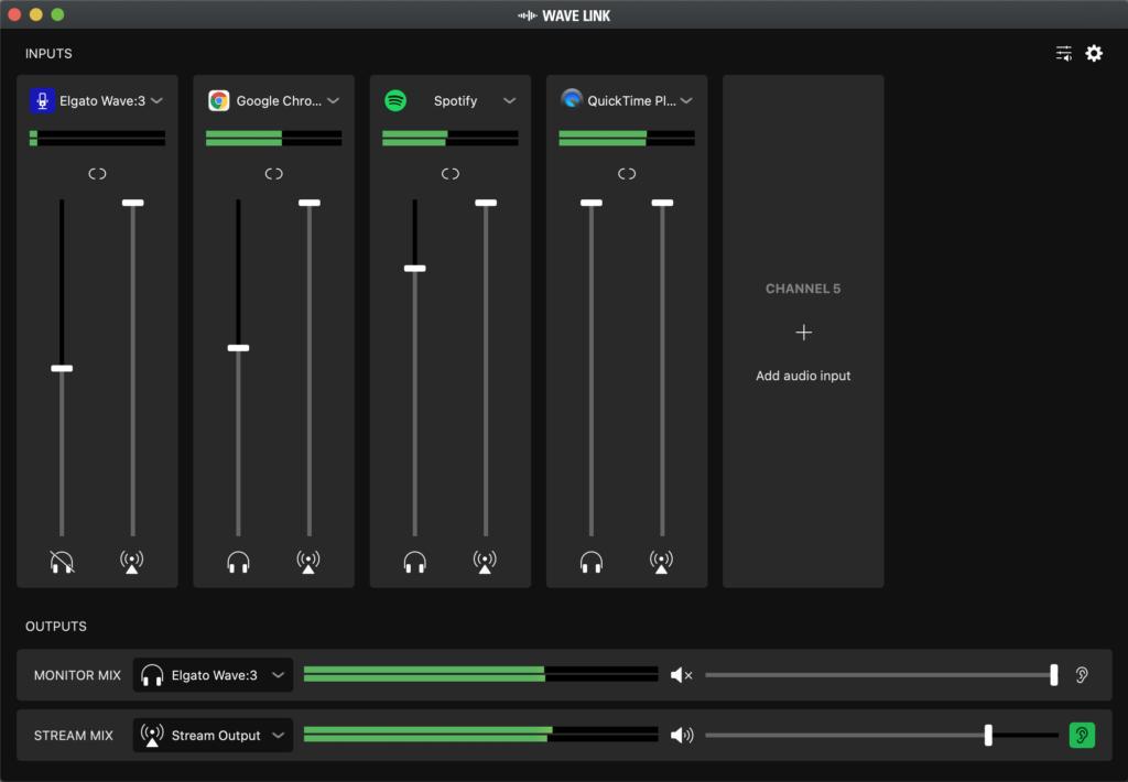 Elgato Wave Link screenshot