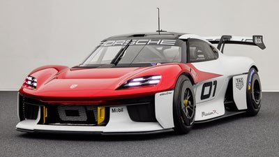The Mission R is an electric Porsche race car meant for livestreaming