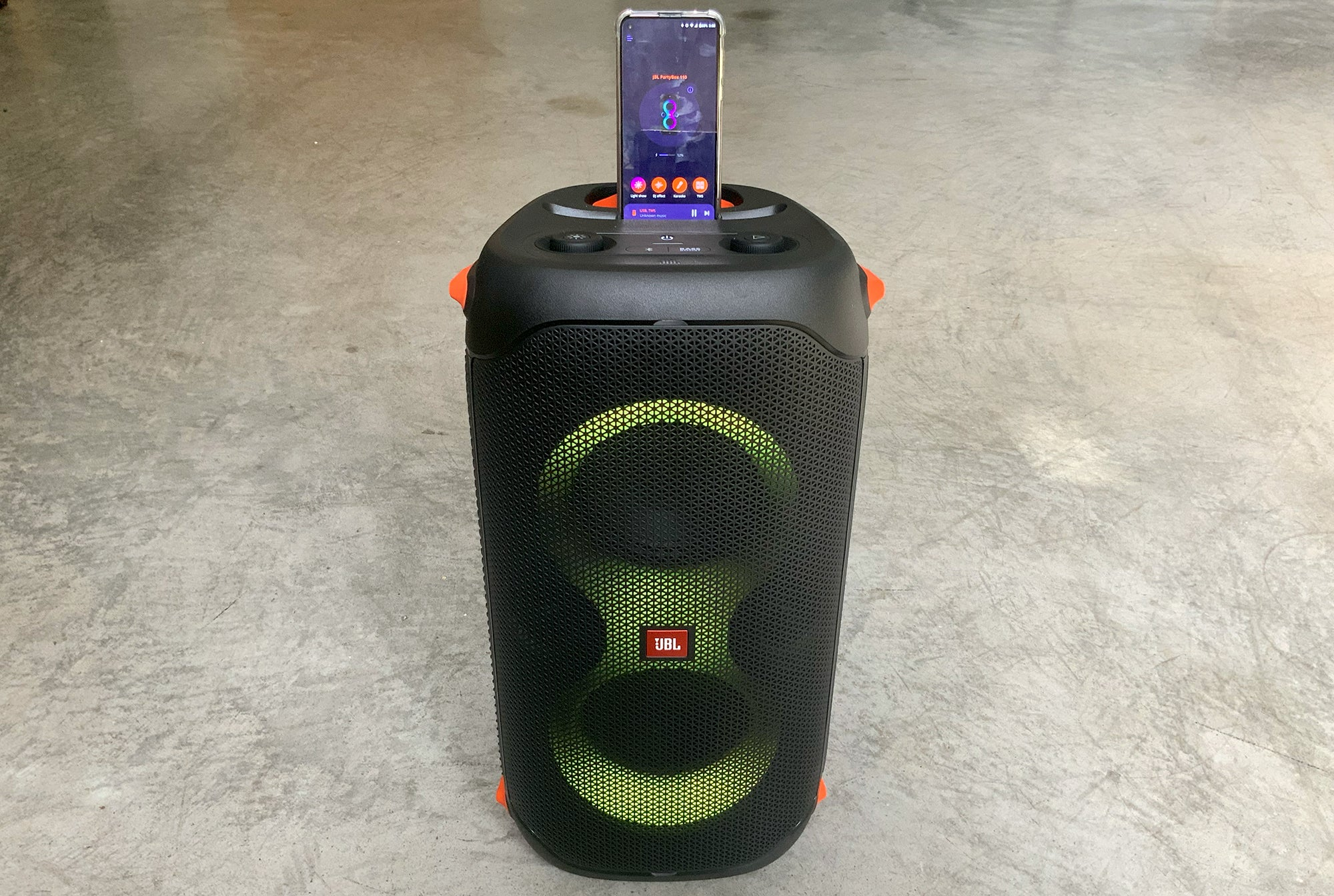 JBL PartyBox 110 with iPhone