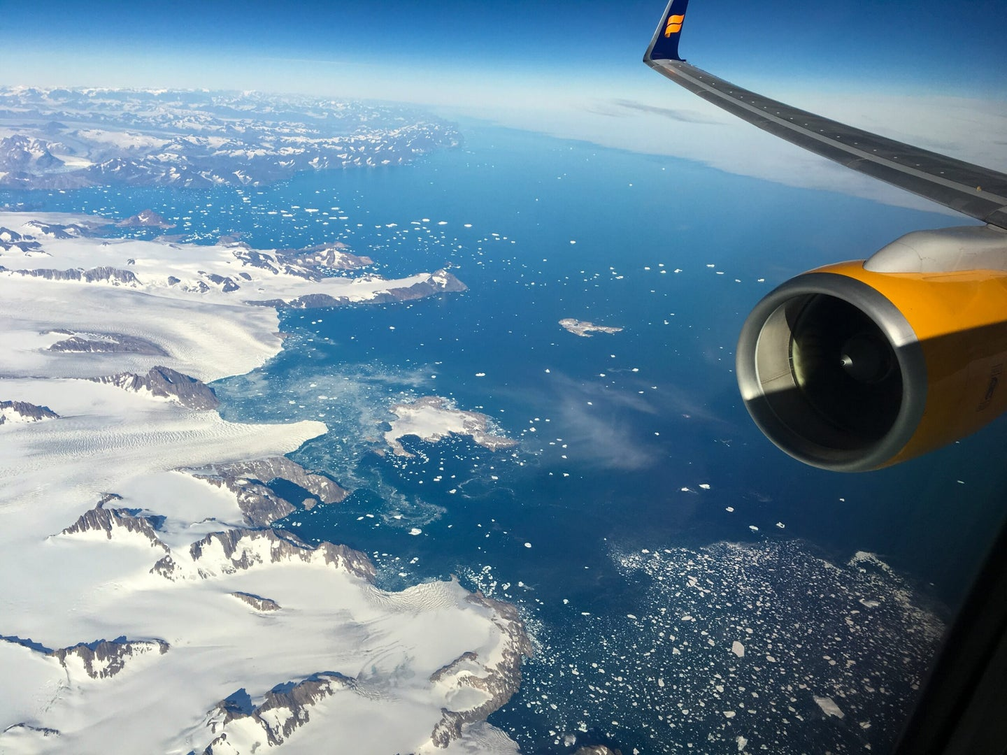 greenland seen from an airplane