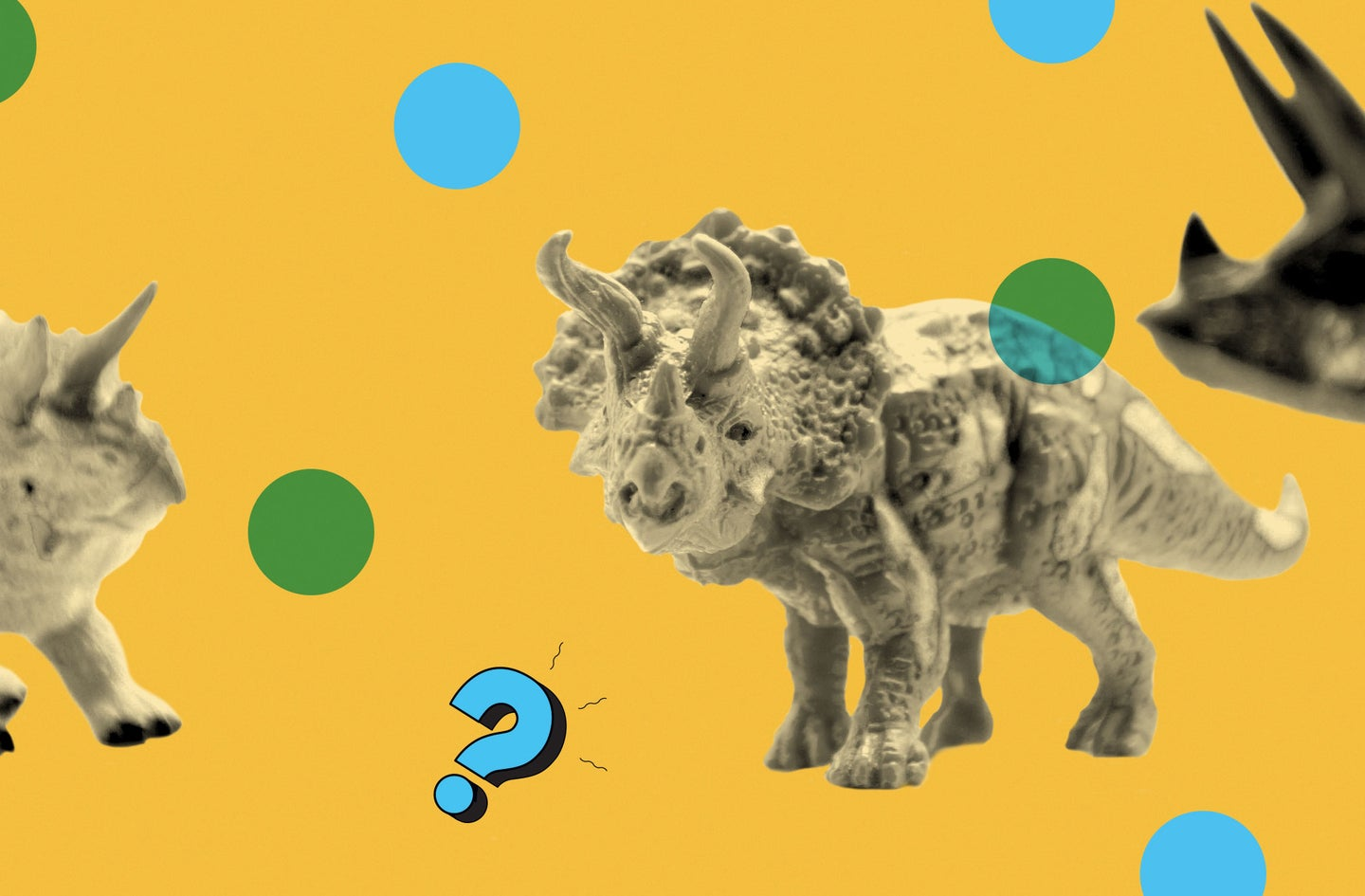 Some dinosaurs on the PopSci Ask Us Anything podcast background.