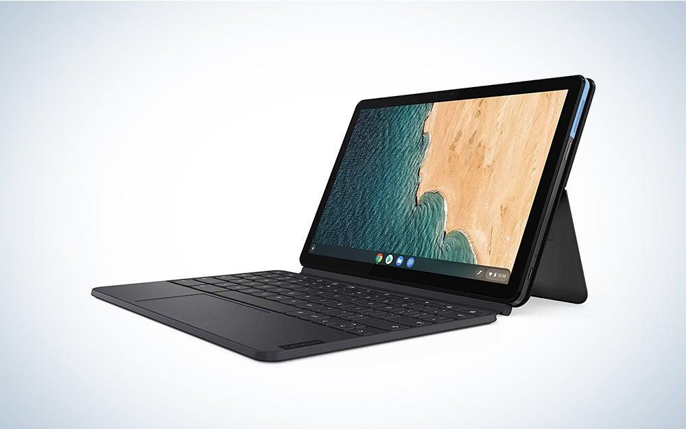 Lenovo Chromebook Duet is the best chromebook for kids.