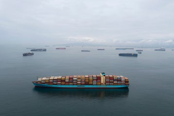 Why a record number of container ships are backed up off the coast of California