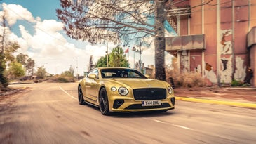 Bentley luxury car testing at Comiso Air Base in Sicily