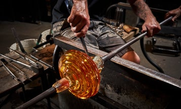 How glassblowers turn silica, soda ash, and lime into stunning works of art