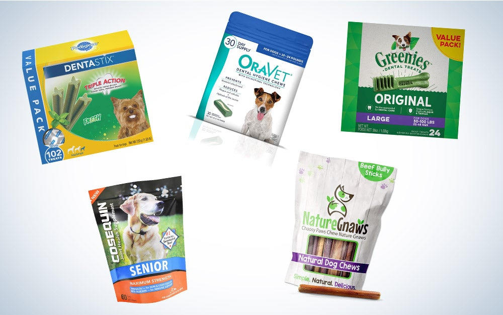 These are our picks for the best dental chews for dogs on Amazon.