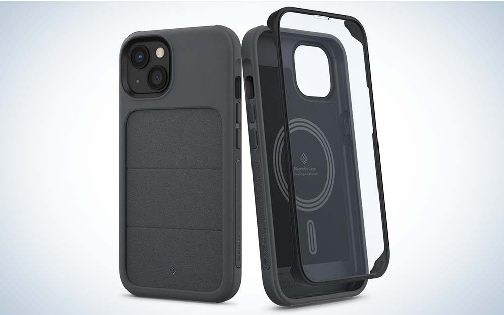 The Caseology Stratum is one of the best iPhone 13 cases because of its screen protector.