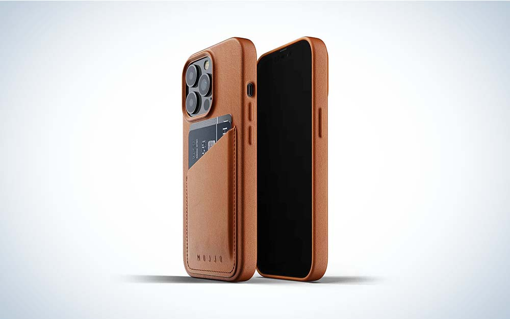 The Mujjo Full Leather Wallet Case is the best iPhone 13 case in leather.