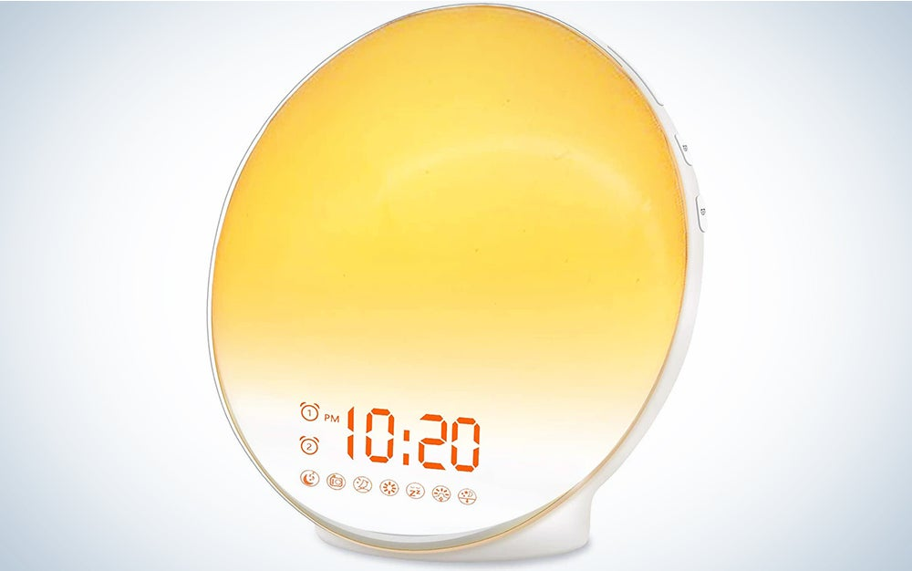 JALL sunrise is our pick for best alarm clock.