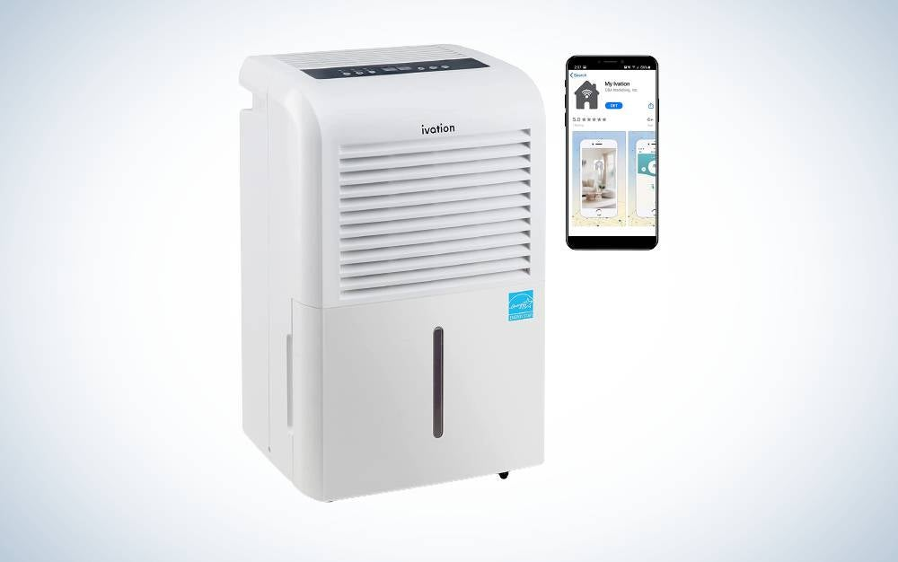 The Ivation Smart Wi-Fi energy star is best home dehumidifier