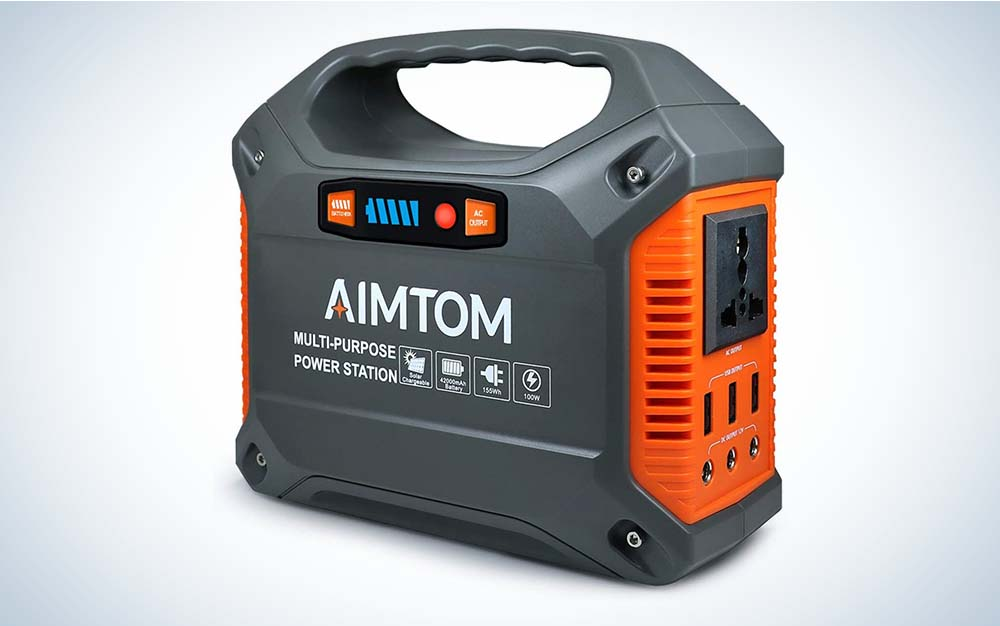 AIMTOM 100W 155Wh Power Station is the best portable power station for camping.