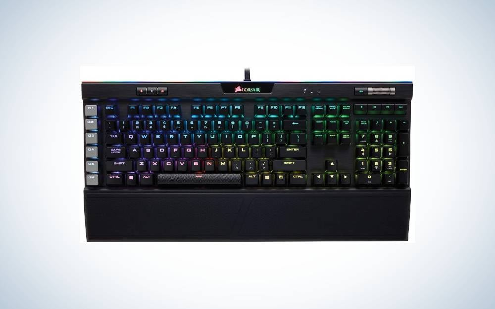 Corsair K95 RGB Platinum Mechanical Gaming Keyboard is the best keyboard for gaming