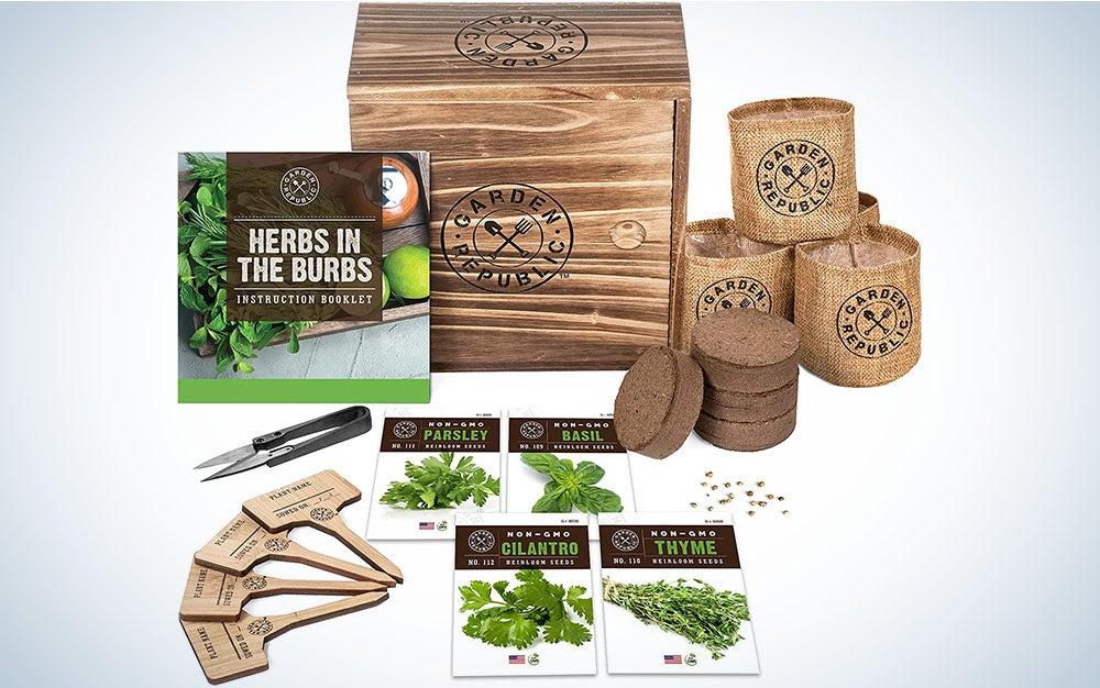 Gaden Republic Indoor Herb Garden Starter Kit is the best indoor herb garden.