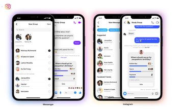 Facebook users can now mix Messenger and Instagram friends in group chats