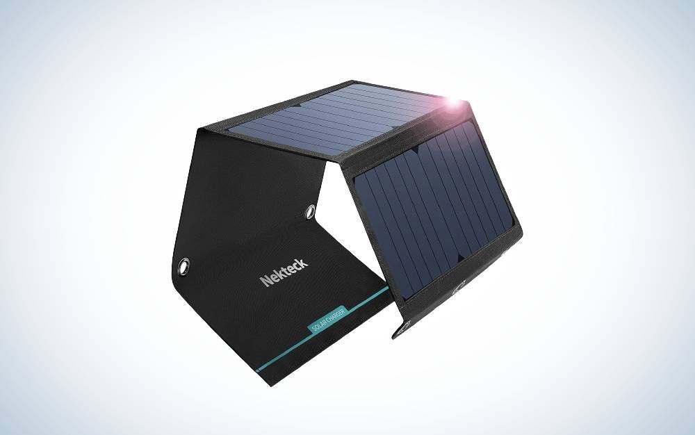 The Nekteck 21W Solar Charger are the best solar panels.