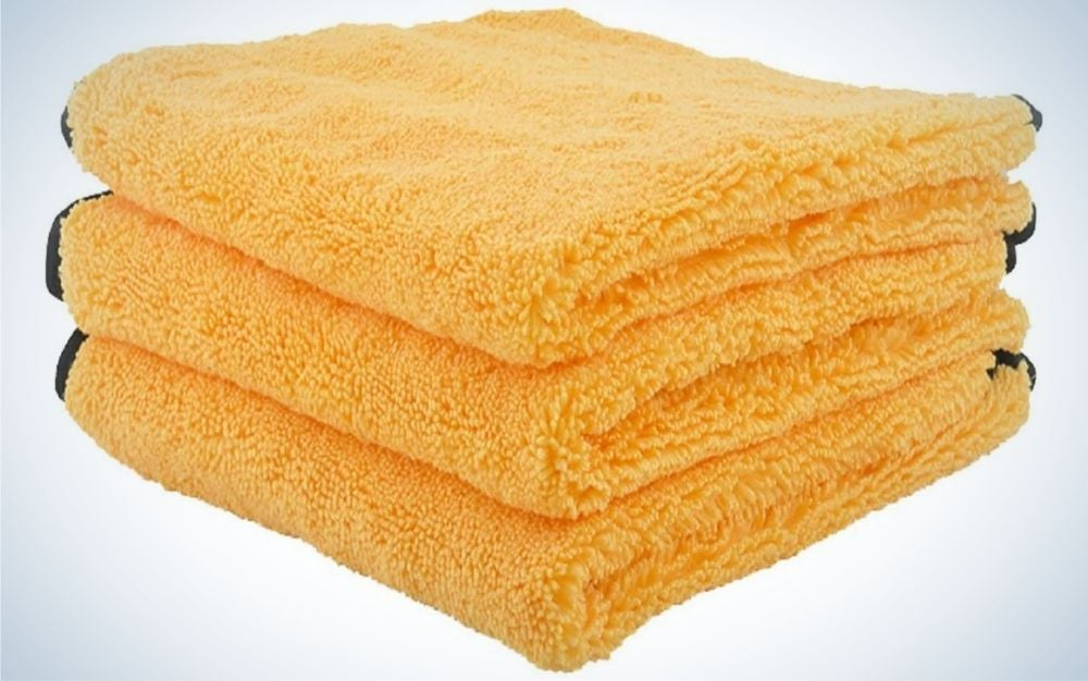 This set from Chemical Guys is our pick for best microfiber cleaning cloths.