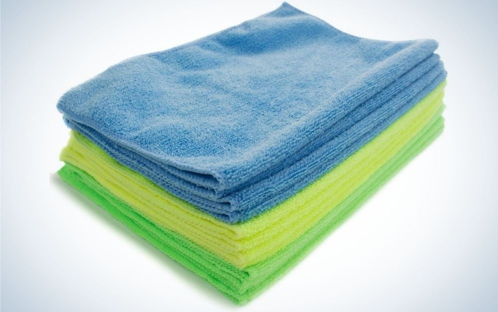 This set from Zwipes is our pick for the best microfiber cleaning cloths.