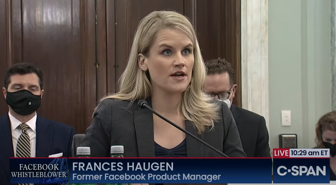 The Facebook whistleblower's Congressional hearing was a 'big tobacco moment' for tech thumbnail