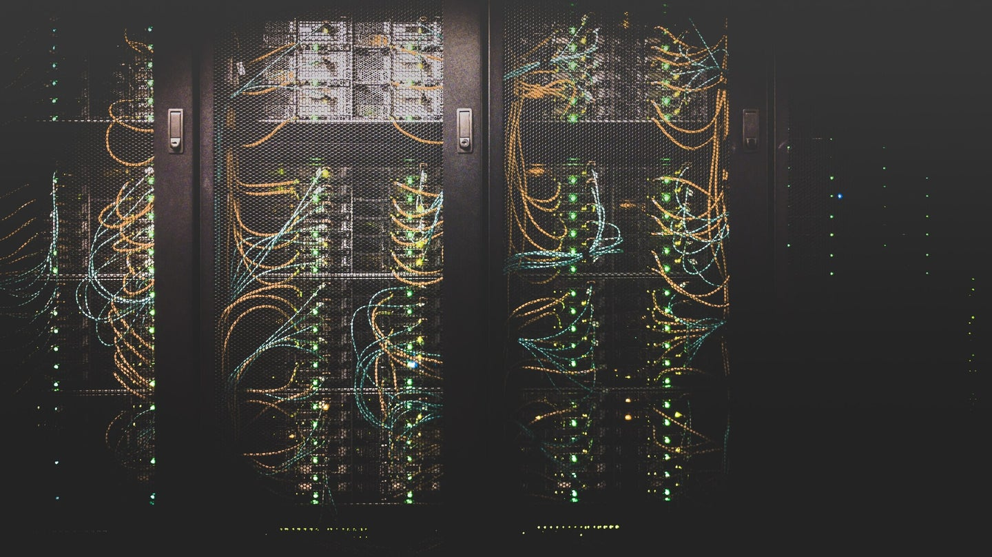 Routers at a data center.