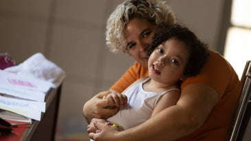 Baby and mother in Brazil with Zika virus