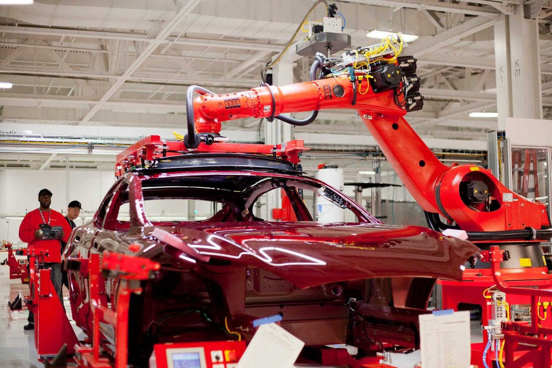 Insider Tesla HQ.