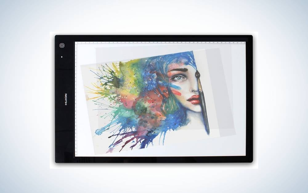 The HUION LB3 Wireless Tracing Light Box is the best light box for artists.