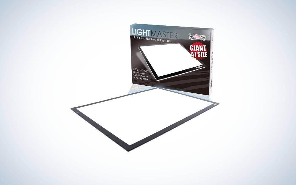 US Art Supply Lightmaster Giant is the best light box for quilting.