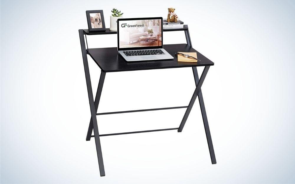 The GreenForest Folding Desk is the best laptop desk that's foldable.