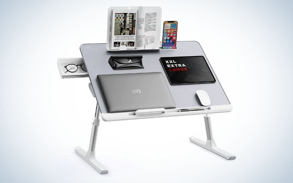 The SAIJI Laptop Tray Desk is the best laptop desk overall.
