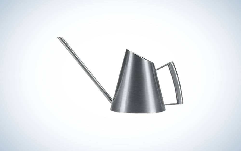 The Fasmov 13.5 Oz Stainless Steel Watering Can is best watering can for succulents.