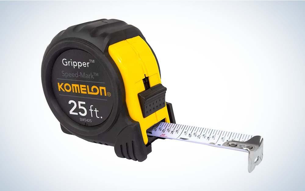 The Komelon SM5425 Speedmark Gripper Measuring Tape is the best value.