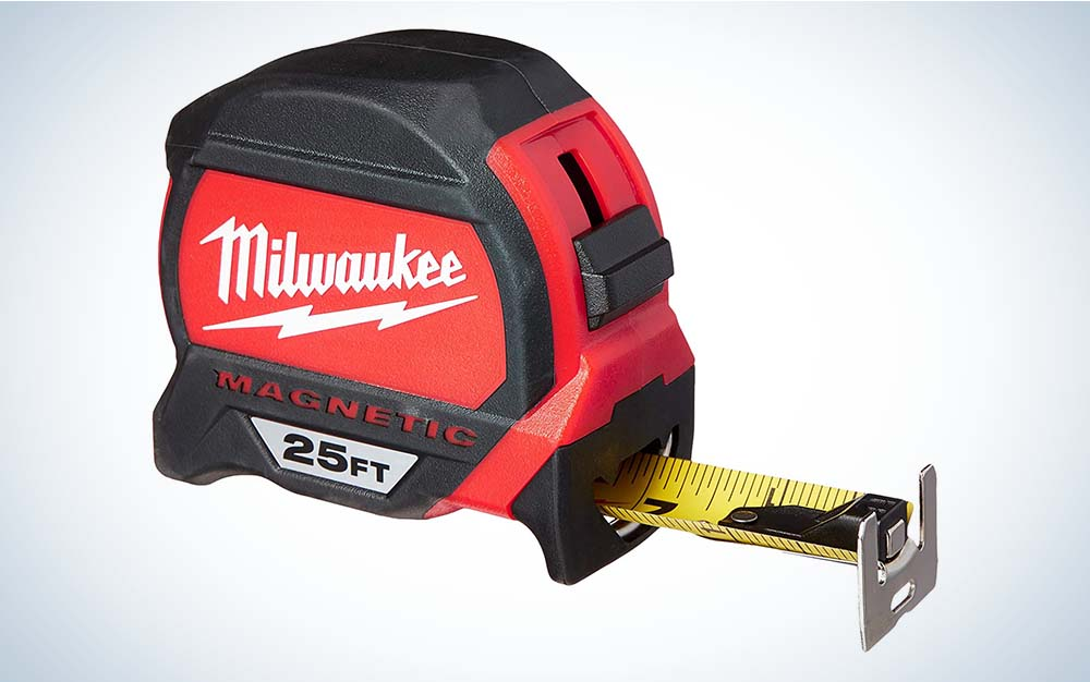 The Milwaukee Magnetic Tape Measure is the best for electricians.
