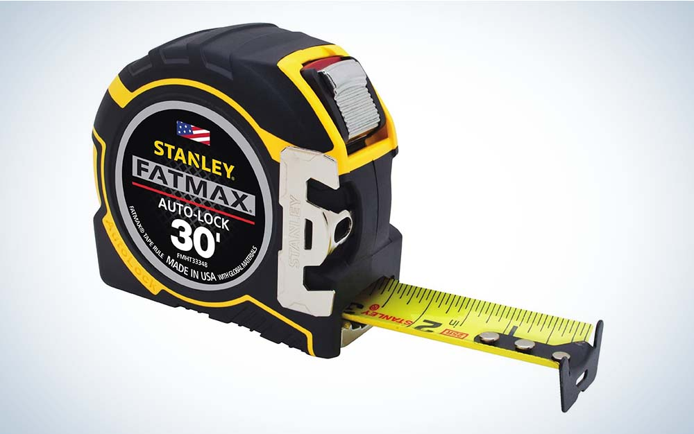 The Stanley FATMAX Auto Lock Tape Measure is the best for construction jobs.