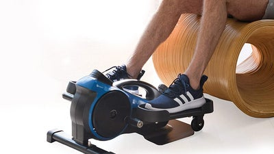 This under-desk elliptical can help you burn calories while working, and it's on sale