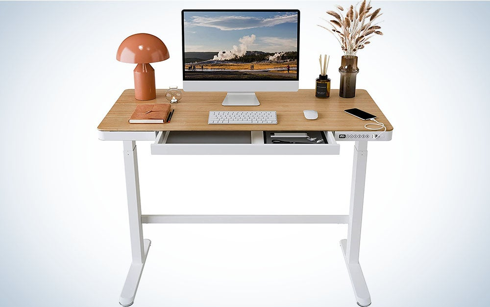 The Flexispot EB8 Standing Desk is the best electric standing desk