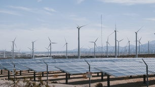 Wind farm along shorelines represent the US shift to clean energy through the CEPP