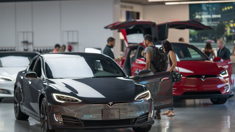 Tesla Model 3 in black soon to be a Hertz rental car